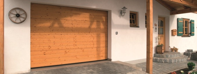 Sectional Doors (Timber) - S-Ribbed Nordic Pine