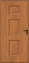 Hormann Georgian Decograin Side Door - 971-Golden Oak-vert-0712