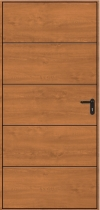 Hormann Horizontal Decograin Side Door - Horizontal Decograian